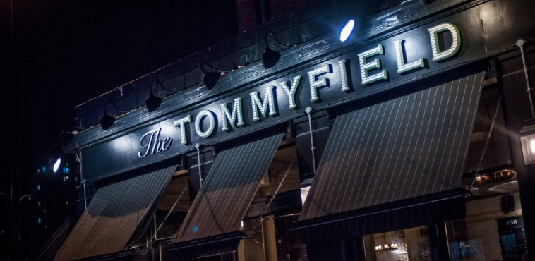 Exterior of The Tommyfield in  Kennington Cross, London. The pub is part of the Three Cheers Pub Co.