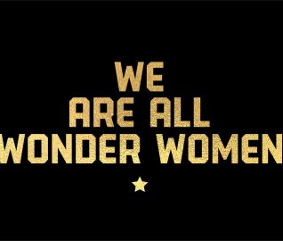 We are all wonder women_gold on black