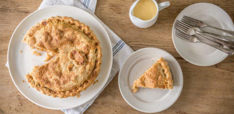 apple pie custard landscape